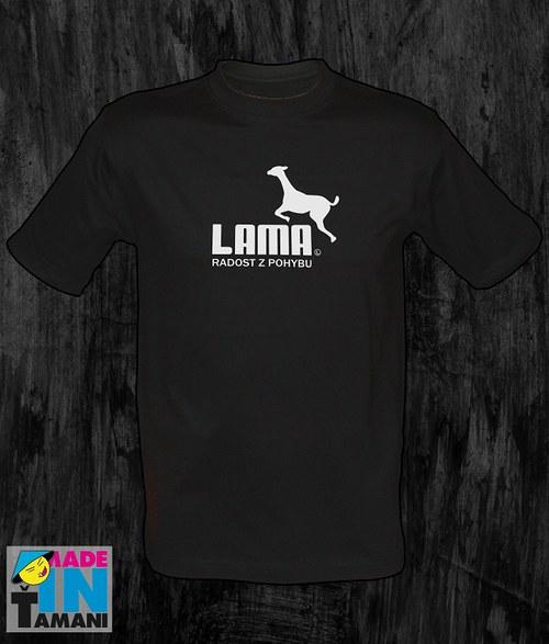 Pánské černé tričko s Lamou