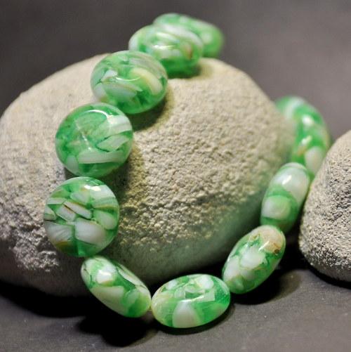 PER896 Perleť kolečko Green Summer - 16 mm