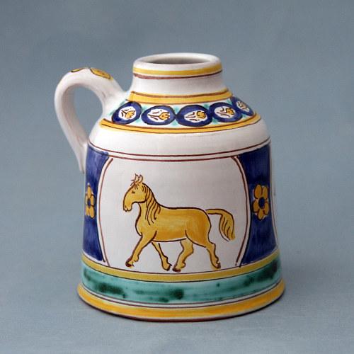 Láhev s ruční malbou koně