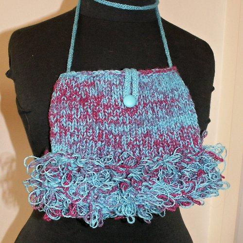 pletená kabelka se smyčkami