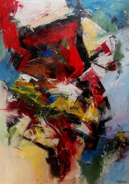 Abstraktní nálada - akryl