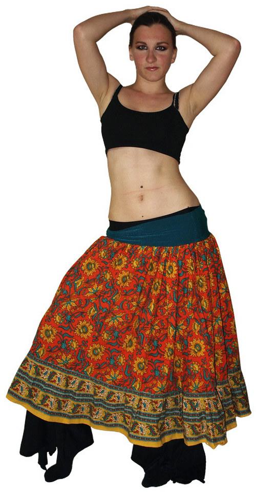 Indická sukně s volánem