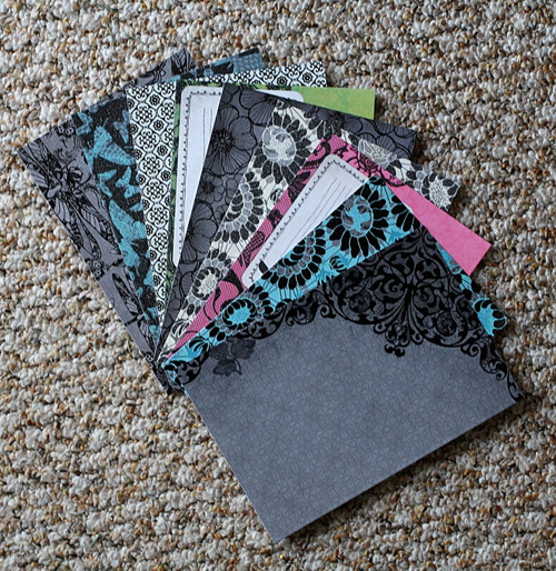 Sada 9 ks scrapbook papírů 16,5 * 11,4 cm