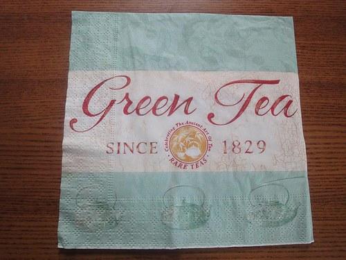 Ubrousek na decoupage - green tea