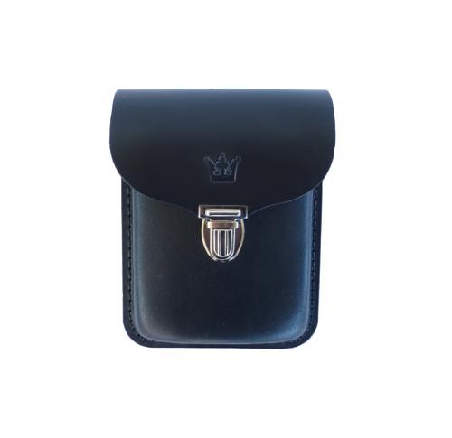 Pánská kožená kapsa na opasek - černá