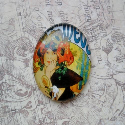 skleněný kabošon - Mucha I.