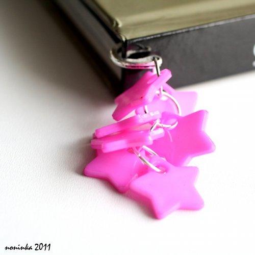 sytě růžová hvězda  - záložka do knihy