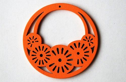 dřevěné kolečko- oranřové