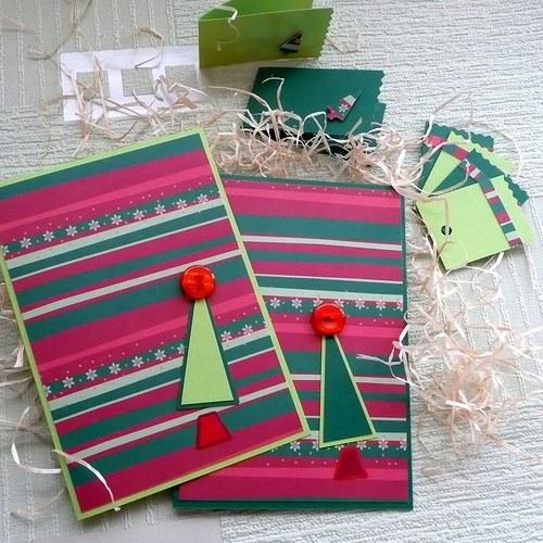 Rozverná vánoční přání - sada