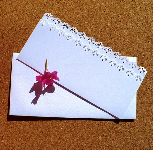 168. Svatební blahopřání (nebo oznámení) s obálkou