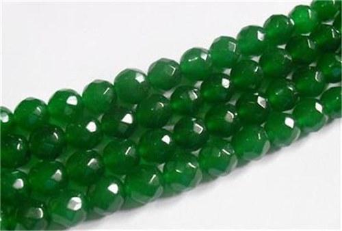 Zelený Emerald broušený 8mm - 2ks