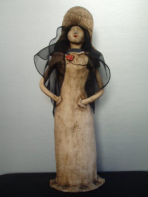 keramická panenka-SLEVA ze 700,-Kč