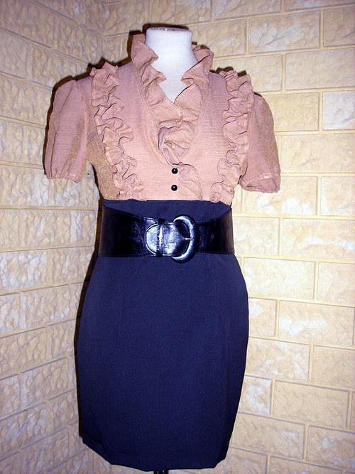 Šaty s páskem na dálku