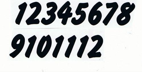 Čísla na hodiny nalepovací černá-typ č.17-v.1,9CM