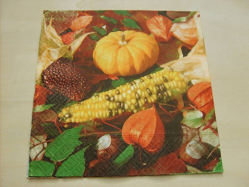 Ubrousek - dýně a kukuřice
