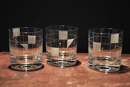 Sklenky na vodu/whisky 280 ml ČTVEREČKY (6ks)
