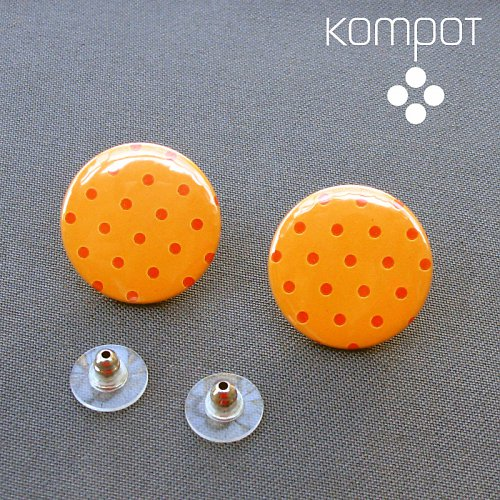 PUNTÍKATÉ pomerančové