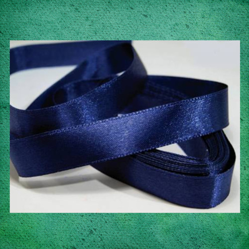 Atlasová stuha šíře 12 mm - tmavě modrá