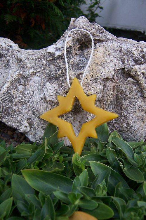 Vánoční ozdoba hvězda 100% včelí vosk
