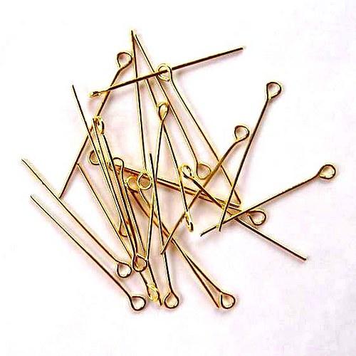Jehla 3cm - 50ks - Zlatá