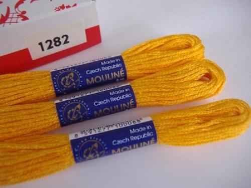 Vyšívací příze mouline - pomerančová