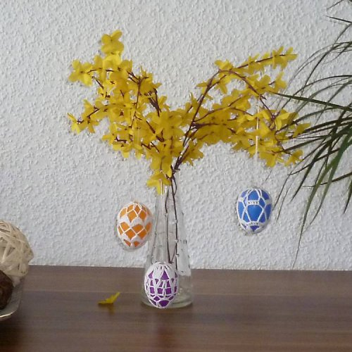Sada háčkovaných vajíček 3 ks - mix barev