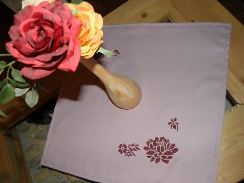 Ubrus fialová květena