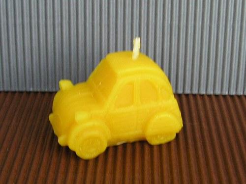 Svíčka ze včelího vosku - auto