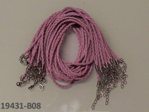 19431-B08 Bižuterní šňůrka pletená um.kůže RŮŽOVÁ