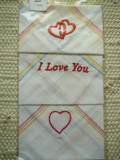 Dámské kapesníky pro zamilované