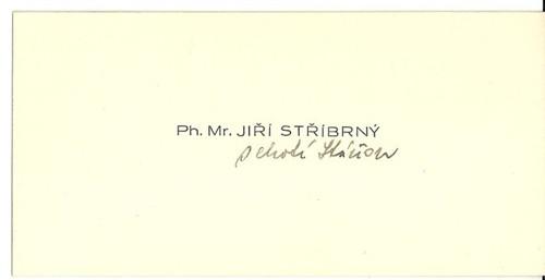Vizitka Ph. Mr. Jiří Stříbrný