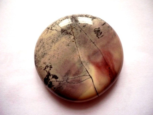 Troml. placka - jaspis stříbrný, č.1025