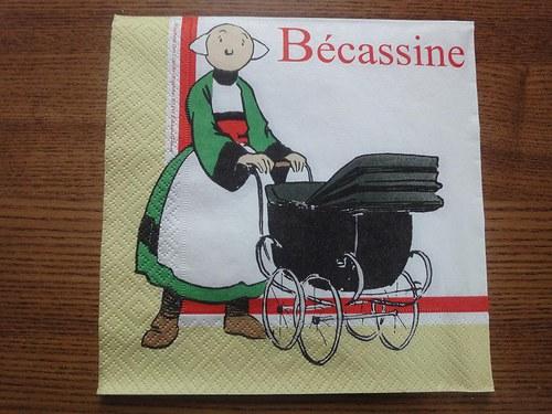 Ubrousek na decoupage - Becassine 2