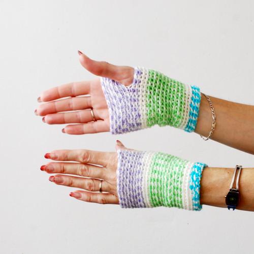 Bezprsťáky na ruce barevné kratší