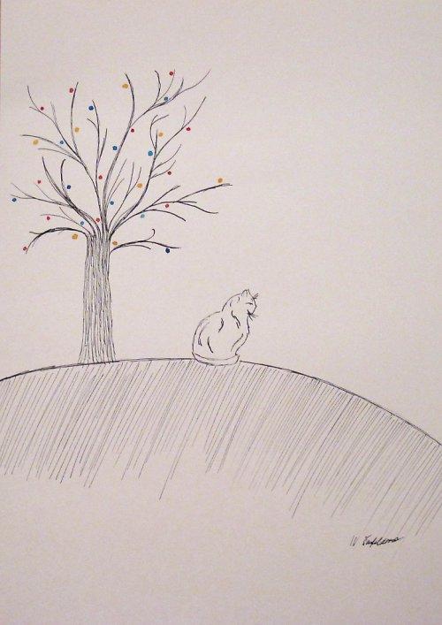 Na kopečku kočička