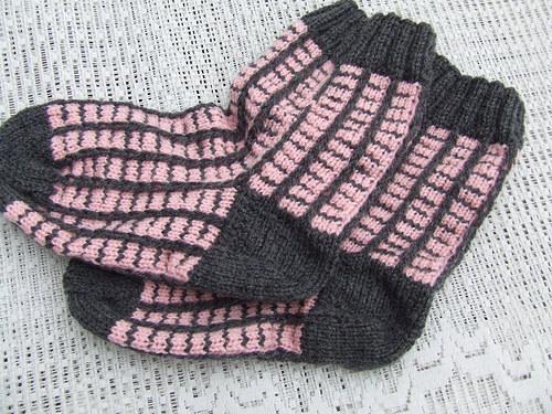 Šedorůžové ponožky č.36-37