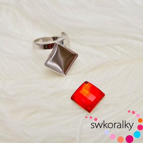 Prsten na CHESSBOARD kámen 12 SWAROVSKI ® ELEMEN