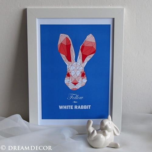 """Následuj bílého králíka \""""blue\"""""""