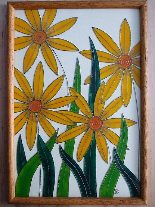Obrázek malovaný na sklo