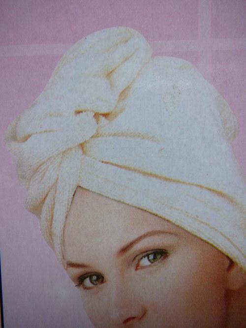 Froté turban na vlasy - novinka