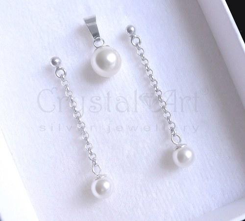 Swarovski perličky v striebre