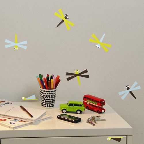 Vážky - samolepky na zeď