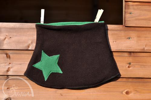 Hvězdný nákrčník hnědo-zelený