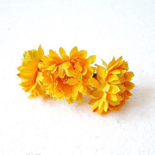 Květinová spona žlutá slaměnka - SLEVA!!!