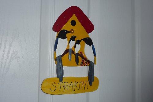 Dřevěná cedulka na dveře STRAKOVI