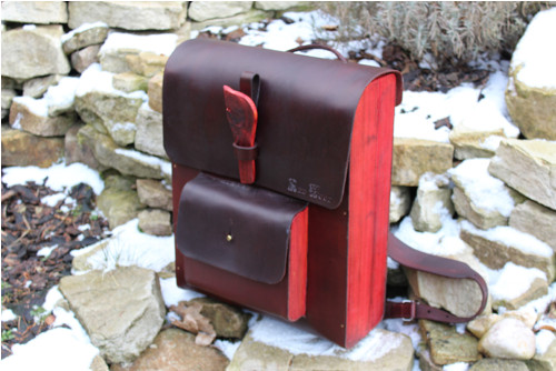 Kožený batoh Red Wood