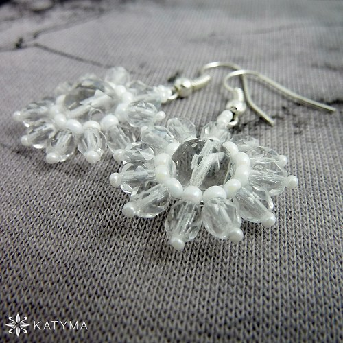 Náušnice svatební květinky 5