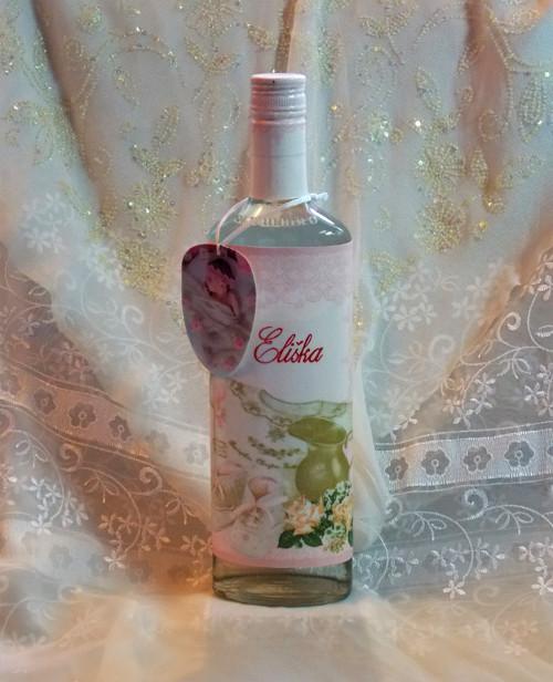 Fľaša ku krstu dievčatka