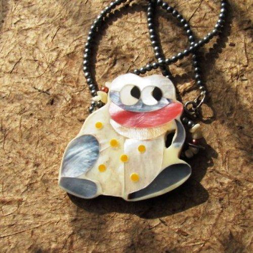 Krásný princ - perleť - náhrdelník