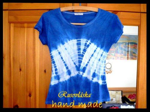 Modrá batika M